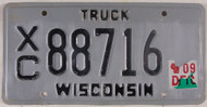 Wisconsin XC 88716 License Plate Truck
