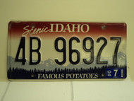 2004 IDAHO Famous Potatoes License Plate 4B 96927