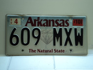 2010 ARKANSAS Natural State License Plate 609 MXW