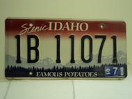 2001 IDAHO Famous Potatoes License Plate 1B 11071