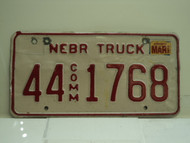 2002 NEBRASKA Commercial Truck License Plate 44 1768