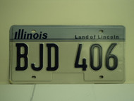 ILLINOIS Land of Lincoln Vanity License Plate BJD 406