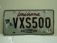 2014 LOUISIANA 200 Years 1812 License Plate VXS 500