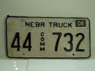 2004 NEBRASKA Commercial Truck License Plate 44 732