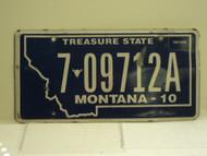 2010 MONTANA Treasure State License Plate 7 09712A