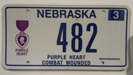 2006 Nebraska Purple Heart Combat License Plate