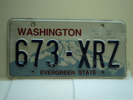 Washington Evergreen State License Plate 673 XRZ