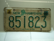 1999 NEW HAMPSHIRE Live Free or Die License Plate 851823