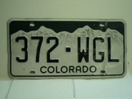 COLORADO License Plate 372 WGL