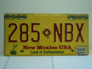2006 NEW MEXICO Land of Enchantment License Plate 285 NBX