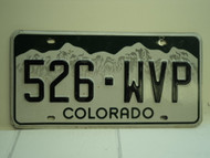 COLORADO License Plate 526 WVP