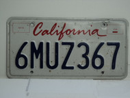 CALIFORNIA Lipstick License Plate 6MUZ367