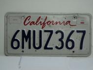 CALIFORNIA Lipstick License Plate 6MUZ367