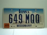 2006 IOWA License Plate 649 MQQ