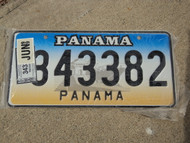 1999 PANAMA License Plate with Sticker 343382