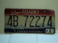2002 IDAHO Famous Potatoes License Plate 4B 72274