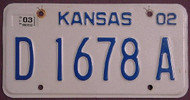 Kansas 2003 Dealer License Plate