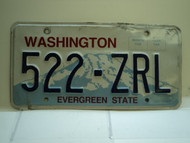 Washington Evergreen State License Plate 522 ZRL