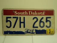 2004 SOUTH DAKOTA Mount Rushmore License Plate 57H 265