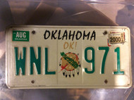 2000 Aug Oklahoma OK! WNL 971 License Plate