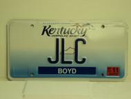 2013 KENTUCKY Unbridled Spirit VANITY License Plate JLC