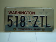 Washington Evergreen State License Plate 518 ZTl
