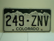 COLORADO License Plate 249 ZNV