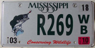 2010 Mar Mississippi Wildlife License Plate