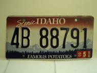 2003 IDAHO Famous Potatoes License Plate 4B 88791