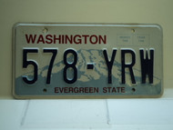 Washington Evergreen State License Plate 578 YRW