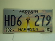 2012 MISSISSIPPI Lighthouse License Plate HD6 279