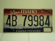 IDAHO Famous Potatoes License Plate 4B 79984