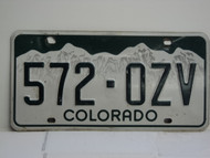 COLORADO License Plate 572 OZV