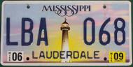 2009 Jun Mississippi LBA 068 License Plate