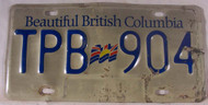 Beautiful British Columbia License Plate TPB 904