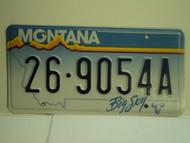 MONTANA Big Sky License Plate 26 9054A