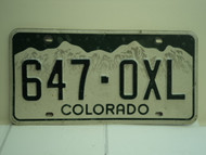 COLORADO License Plate 647 OXL