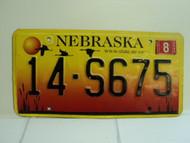 2005 NEBRASKA License Plate 14 S675
