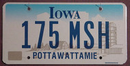85 Iowa Farm Scene Flat Bulk License Plates