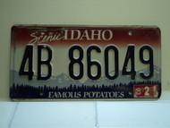 2003 IDAHO Famous Potatoes License Plate 4B 86049