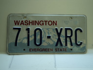 Washington Evergreen State License Plate 710 XRC