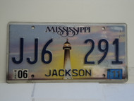 2011 MISSISSIPPI Lighthouse License Plate JJ6 291