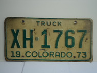 1973 COLORADO Truck License Plate 1767