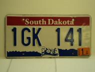 2003 SOUTH DAKOTA Mount Rushmore License Plate 1GK 141