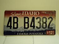 2006 IDAHO Famous Potatoes License Plate 4B B4382