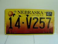 2004 NEBRASKA License Plate 14 V257