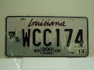 2014 LOUISIANA 200 Years 1812 License Plate WCC 174