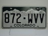 COLORADO License Plate 872 WVV