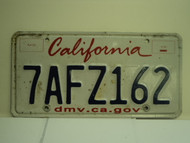 CALIFORNIA Lipstick License Plate 7AFZ162