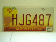 2007 NEW MEXICO Land Of Enchantment License Plate HJG487